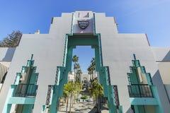 Beautiful scene around Beverly Hills city hall. Los Angeles, California Stock Images