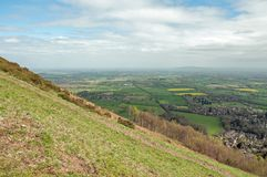 Malvern hills scenery in the English countryside. Royalty Free Stock Photo