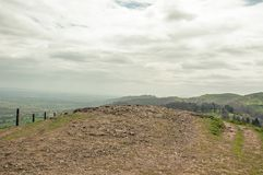 Malvern hills scenery in the English countryside. Stock Photos