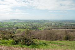Malvern hills scenery in the English countryside. Stock Photography