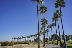 Beautiful scene around Rainbow Harbor. Long Beach, California, U.S.A Stock Images
