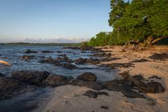 Beautiful scene of Bama Beach, Baluran. Baluran National Park is a forest preservation area that extends about 25.000 ha on the. North coast of East Java stock photography
