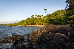 Beautiful scene of Bama Beach, Baluran. Baluran National Park is a forest preservation area that extends about 25.000 ha on the. North coast of East Java stock photo