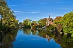 Beautiful Scene in Brugge Royalty Free Stock Image