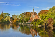 Beautiful Scene in, Brugge Belgium Stock Photography