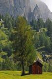 Beautiful Scene in the Dolomites, Alta Badia Royalty Free Stock Images