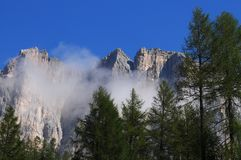 Beautiful Scene in the Dolomites, Alta Badia Stock Photo