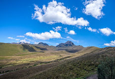 Beautiful scene of the Ecuadorian Andes. On a sunny day Royalty Free Stock Photography