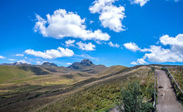 Beautiful scene of the Ecuadorian Andes. On a sunny day Royalty Free Stock Photos