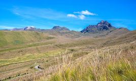 Beautiful scene of the Ecuadorian Andes. On a sunny day Stock Photo
