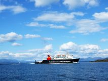 Beautiful scene with a ferry, Oban. Scotland Stock Images