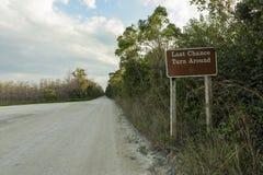 Beautiful scene in the Florida Everglades Landscape. Stock Photo