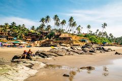 Travel in India. Beautiful scene in Goa, India Royalty Free Stock Photography