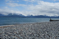 A beautiful scene at homer beach. Royalty Free Stock Photography