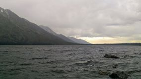 Storm on Jenny Lake. A beautiful scene of Jenny Lake while a storm was brewing in Grand Tetons National Park Stock Photography