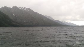 Storm on Jenny Lake. A beautiful scene of Jenny Lake while a storm was brewing in Grand Tetons National Park Royalty Free Stock Photography