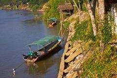 Beautiful scene of Kok River at Chiang Rai province. stock photography