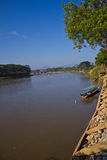 Beautiful scene of Kok River at Chiang Rai province. stock photo
