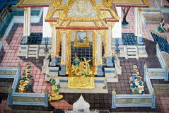 Beautiful Scene Painted on a Temple Wall Royalty Free Stock Image