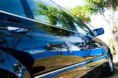 Beautiful scene reflected on car Stock Image