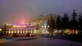Beautiful scene in SaPa city stock photos