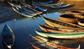 Beautiful scene with colorful boat on water Stock Photography