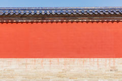 Beautiful Scene of Temple of Heaven red walls Stock Photos