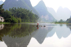 Beautiful Scenery. A Beautiful Scenery In Guilin,China Royalty Free Stock Images