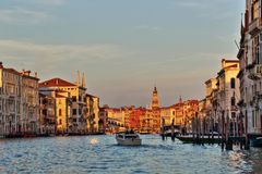 Venice, Italy. Beautiful scenery along Canal Grande in Venice, Italy stock images