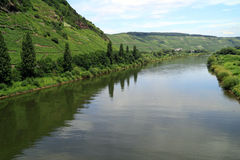 Beautiful scenery along the River Moselle Germany Stock Photos