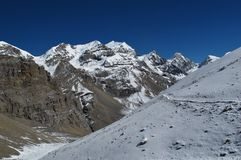 Beautiful scenery on the Annapurna Round Royalty Free Stock Photo