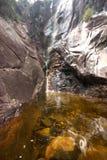 Beautiful scenery of Apong Jatuh waterfall at Gunung Ledang Stock Image