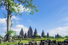 Attraction place of Prambanan temple complex Stock Photo