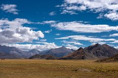 The Beautiful Scenery: Travelling in Tibet Stock Image