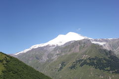 The beautiful scenery of the Caucasus mountains. Stock Image