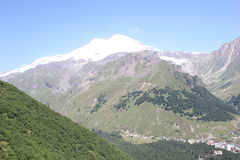 The beautiful scenery of the Caucasus mountains. Royalty Free Stock Photography