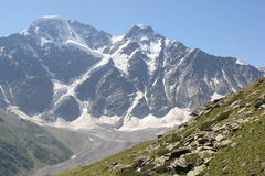 The beautiful scenery of the Caucasus mountains. Stock Photo