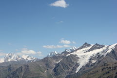 The beautiful scenery of the Caucasus mountains. Royalty Free Stock Images