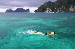 Beautiful scenery clear sea at phi phi island Stock Image