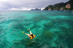 Beautiful scenery clear sea at phi phi island Royalty Free Stock Photos