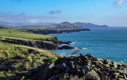 Irish Coastline Rocks stock images