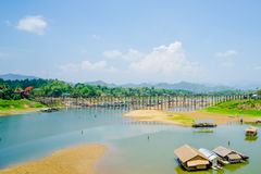 Beautiful scenery. In drought of Kanchanaburi, Thailand Royalty Free Stock Photo