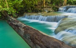 Beautiful scenery of Erawan Waterfall stock images
