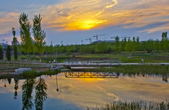 Beautiful scenery of the evening royalty free stock images