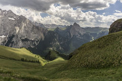 Beautiful scenery of the great mountain peaks. Dolomites. Italy. Stock Image