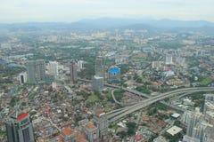 Beautiful Scenery of Kuala Lumpur from Petronas Towers in Malaysia Royalty Free Stock Photos