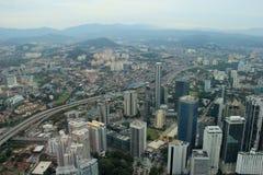 Beautiful Scenery of Kuala Lumpur, Malaysia. Beautiful Scenery of Kuala Lumpur from Petronas Towers in Malaysia Royalty Free Stock Photos