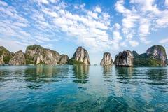 Beautiful Scenery at Halong Bay, Vietnam Royalty Free Stock Images
