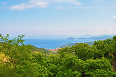 The beautiful scenery of the island of Elba from the height Stock Photos
