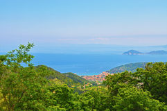 The beautiful scenery of the island of Elba from the height Stock Images